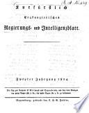Kurfürstlich-Erzkanzlerisches Regierungs- und Intelligenzblatt