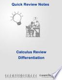 Quick Review Calculus  Differentiation