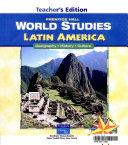 World Studies  Latin America
