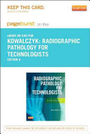 Radiographic Pathology for Technologists Pageburst E book on Kno