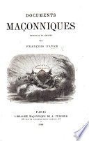 Documents Ma Onniques Recueillis Et Annot S Pa F F