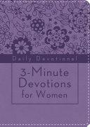 3 Minute Devotions for Women  Daily Devotional  purple