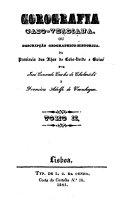 Francisco Adolfo de Varnhagen Corografia Cabo-Verdiana, ou descripção geographico-historica da provincia das Ilhas de Cabo-Verde e Guiné