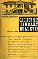 California library bulletin