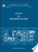 Studi per Giovanni Nicosia