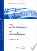 Statut Du Conseil de L'Europe Et Textes À Caractère Statutaire
