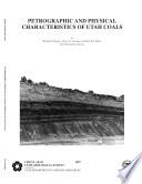 Petrographic and Physical Characteristics of Utah Coals