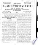 Berliner klinische Wochenschrift