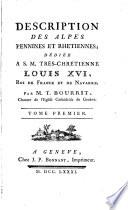 Description des Alpes Pennines et Rhétiennes