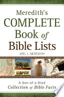 Meredith s Complete Book of Bible Lists