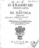 De re nautica libri IIII.