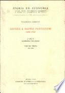 Lettere a Maffeo Pantaleoni
