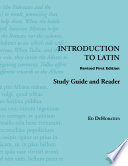 Introduction to Latin  Study Guide and Reader