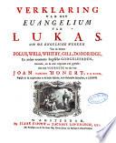 Verklaring van de geheele Heilige Schrift, door eenigen van de voornaamste Engelsche godgeleerden
