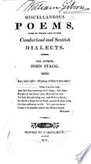 Misc. Poems, Some ... in the Cumberland & Scottish Dialects, ...