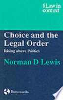 Choice and the Legal Order Pdf/ePub eBook