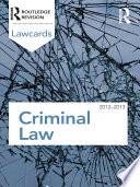 Criminal Lawcards 2012 2013