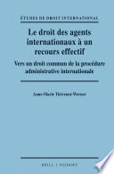 illustration Le droit des agents internationaux à un recours effectif