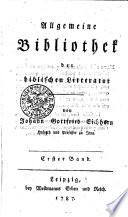 Allgemeine Bibliothek der biblischen Litteratur