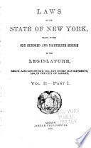 Laws of the State of New York Book PDF