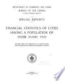Financial Statistics of Cities Having a Population of Over 30 000