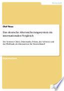 Das deutsche Alterssicherungssystem im internationalen Vergleich