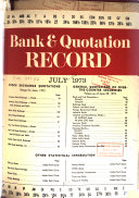 Bank and Quotation Record