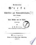 Aristoteles Werke    Stuttgart   Metzler    v    15 cm