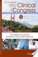 Clinical Congress Program Book 2011