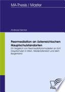 Peermediation an österreichischen Hauptschulstandorten