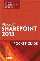 Microsoft SharePoint 2013 Pocket Guide