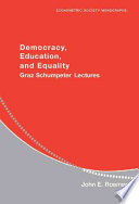 Democracy  Education  and Equality