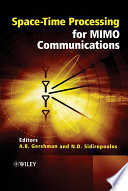 Space Time Processing For Mimo Communications book