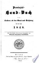 Provinzial-Handbuch von Österreich ob der Enns und Salzburg