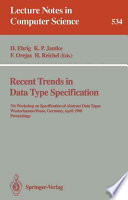 Recent Trends in Data Type Specification