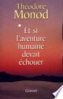 Et si l aventure humaine devait   chouer