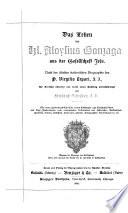 Das Leben des hl. Aloysius Gonzaga aus des Gesellschaft Jesu