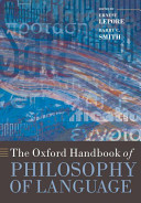 The Oxford Handbook of Philosophy of Language