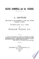 Oliver Cromwell and the Vaudois  a lecture