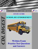 CDL Practice Test Study Guide  School Bus Endorsement