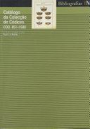 Catálogo da colecção de códices