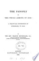 The Panoply Or The Whole Armour Of God A Practical Exposition Of Ephesians Vi