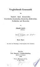 Vergleichende Grammatik des Sanskrit, Send, Armenischen, Griechischen, Lateinischen, Litauischen, Altslavischen, Gothischen und Deutschen