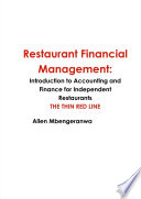 Restaurant Financial Management  Introduction to Accounting and Finance for Independent Restaurants