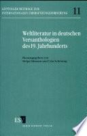 Weltliteratur in deutschen Versanthologien des 19. Jahrhunderts