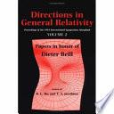 Directions in General Relativity  Volume 2