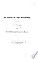 Die Bibliothek des Stiftes Klosterneuberg, etc