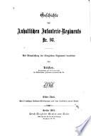 Geschichte des Anhaltischen Infanterie-Regiments