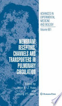 Membrane Receptors Channels And Transporters In Pulmonary Circulation book