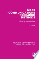 Mass Communications Research Methods
